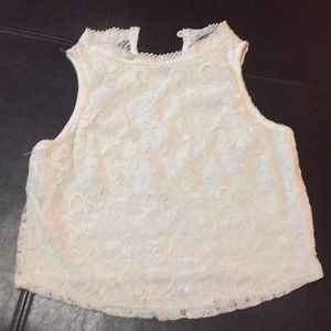 Rolla Coster Crop Lace top